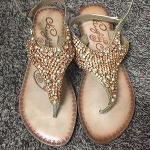 Naughty Monkey sandals size 8
